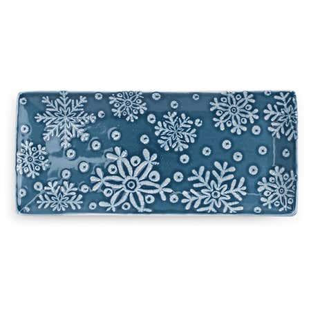 93952_KSP_Christmas_Noel_'Snowflake'_Stoneware_Platter__Blue