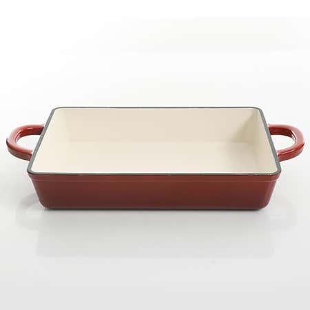 94033_Crock_Pot_Artisan_2_Tone_Cast_Iron_Lasagna_Roasting_Pan__Red