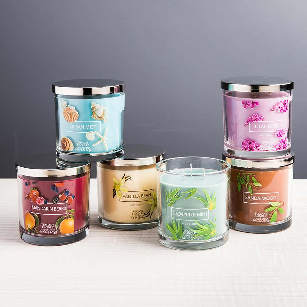 94066_Empire_Tuscany_'Lilac_Petal'_3_Wick_Glass_Jar_Candle
