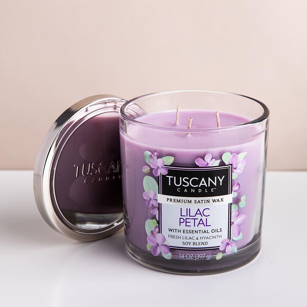 Empire Tuscany 'Lilac Petal' 3-Wick Glass Jar Candle