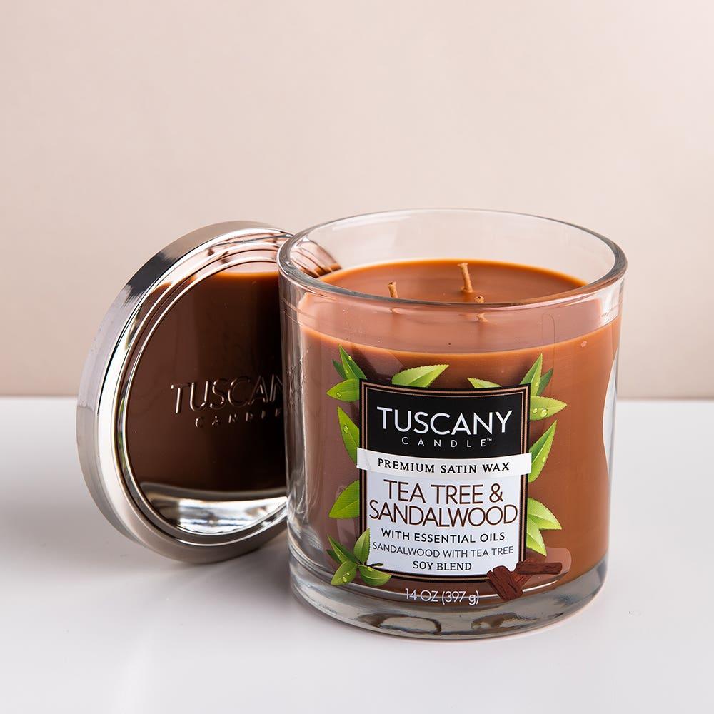Empire Tuscany 'Tea Tree Sandlewood' 3-Wick Glass Jar Candle