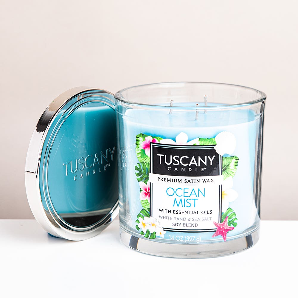 Empire Tuscany 'Ocean Mist' 3-Wick Glass Jar Candle