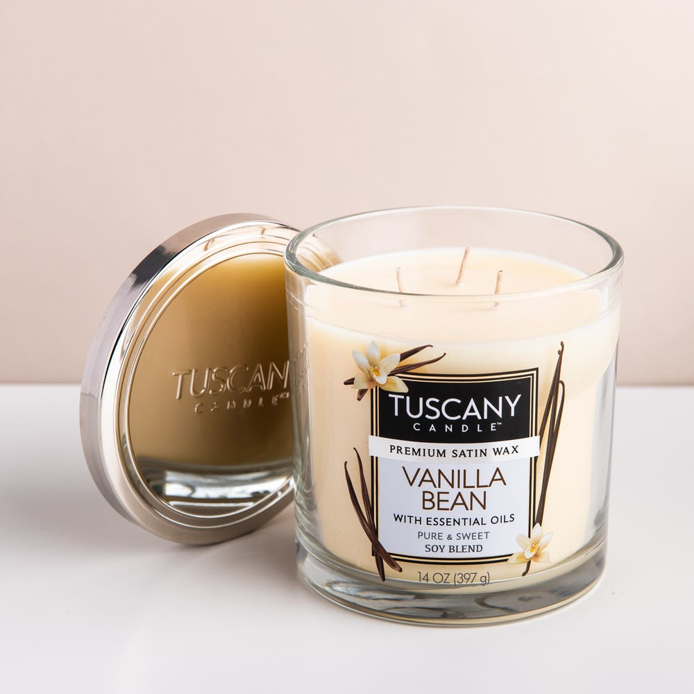 Empire Tuscany 'Vanilla Bean' 3-Wick Glass Jar Candle