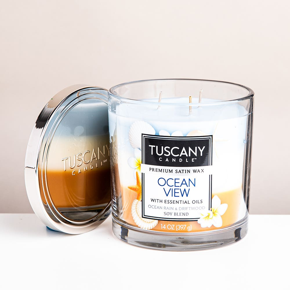 Empire Tuscany 'Ocean View' 3-Wick Glass Jar Candle