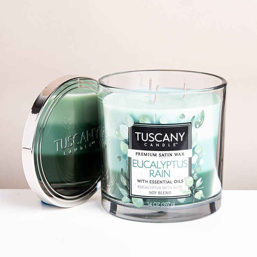 Empire Tuscany 'Eucalyptus Rain' 3-Wick Glass Jar Candle