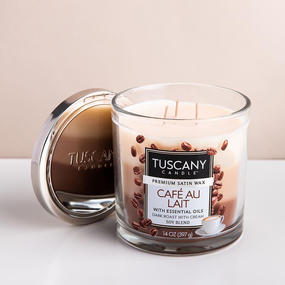 Empire Tuscany 'Cafe Au Lait' 3-Wick Glass Jar Candle