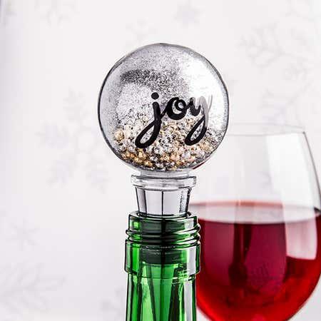94140_KSP_Christmas_Glitter_'Joy'_Glass_Bottle_Stopper__Silver