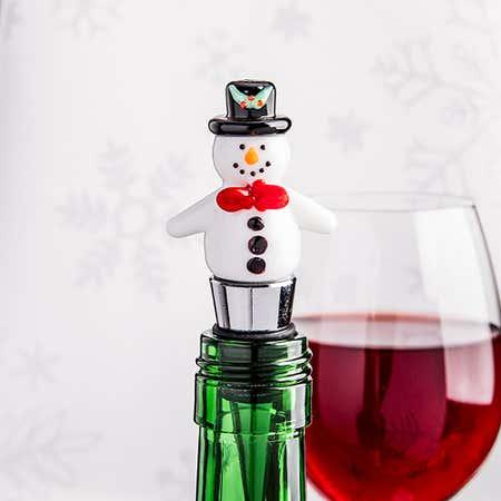 94142_KSP_Christmas_Character_'Snowman'_Glass_Bottle_Stopper__Multi_Colour