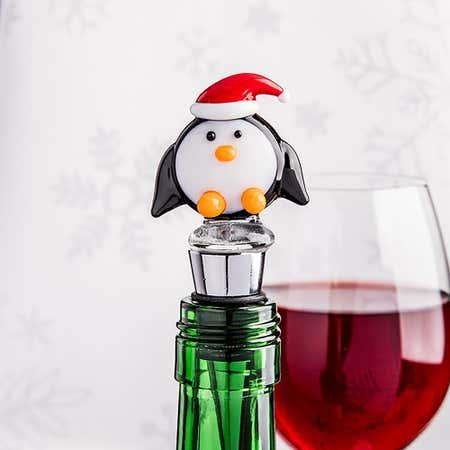 94144_KSP_Christmas_Character_'Penguin'_Glass_Bottle_Stopper__Multi_Colour