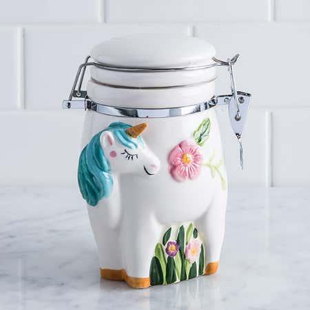 94178_Boston_Warehouse_Flea_Market_'Unicorn'_Ceramic_Jar__Multi_Colour
