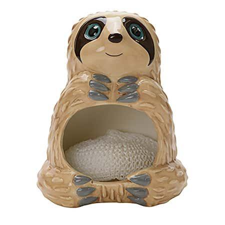 94207_Boston_Warehouse_Flea_Market_Ceramic_'Sloth'_Scrubby_Holder