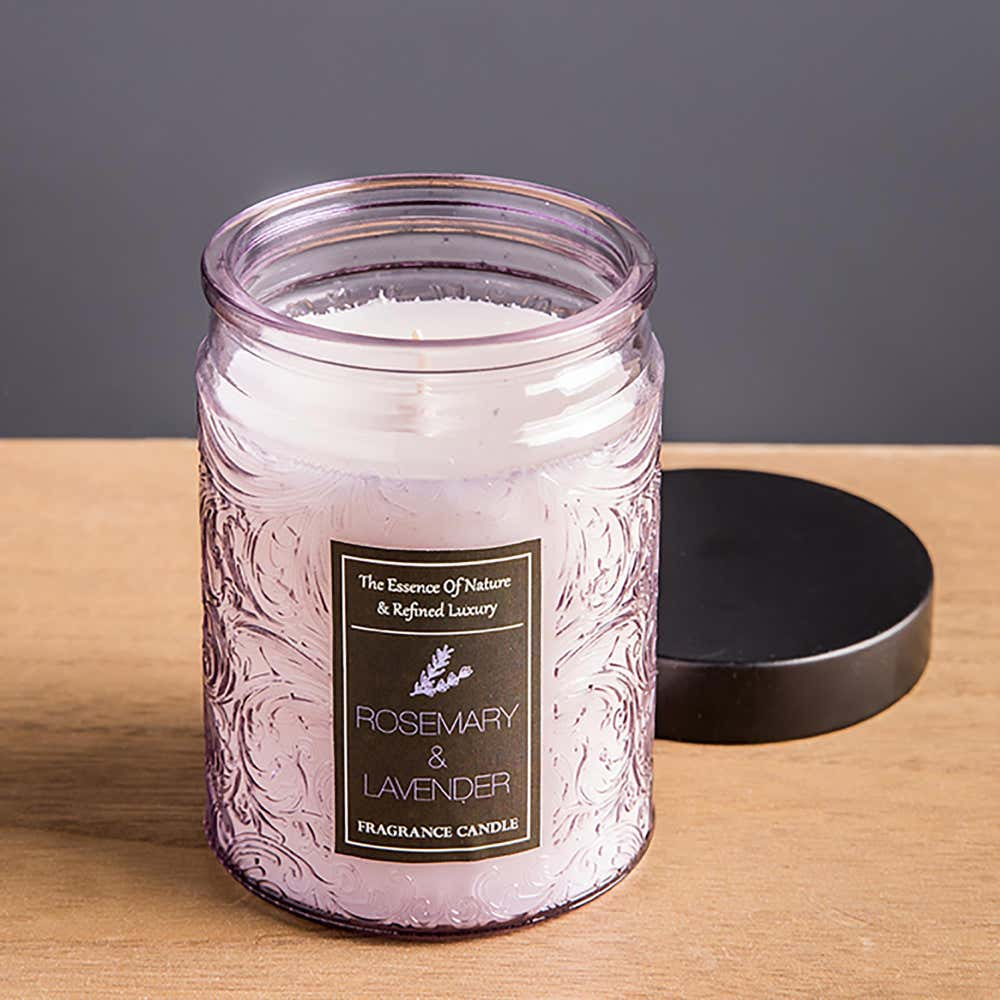 94246_KSP_Essence_'Rosemary_and_Lavender'_Filled_Jar_Candle_with_Metal_Lid__Purple