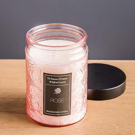 94247_KSP_Essence_'Rose'_Filled_Jar_Candle_with_Metal_Lid__Pink
