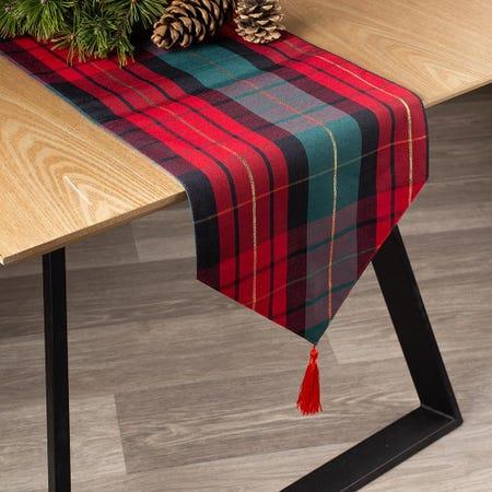 94479_Harman_Christmas_Traditional_Check_Polyester_Table_Runner__Multi_Colour