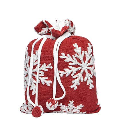 94539_Harman_Sherpa_'Snowflake'_Polyester_Throw_with_Bag__Red