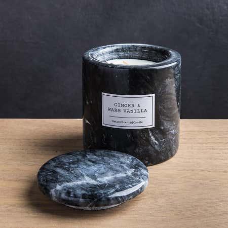94613_KSP_Marble_'Ginger__and__Vanilla'_Filled_Jar_Candle__Black