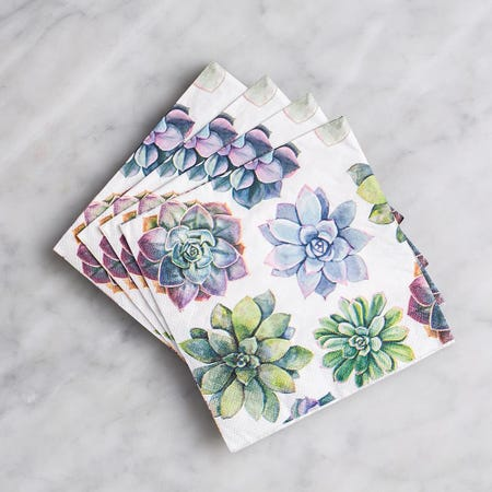 94660_Harman_3_Ply_'Succulent'_Paper_Napkin__Black
