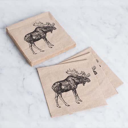 94661_Harman_3_Ply_'Moose'_Paper_Napkin__Black