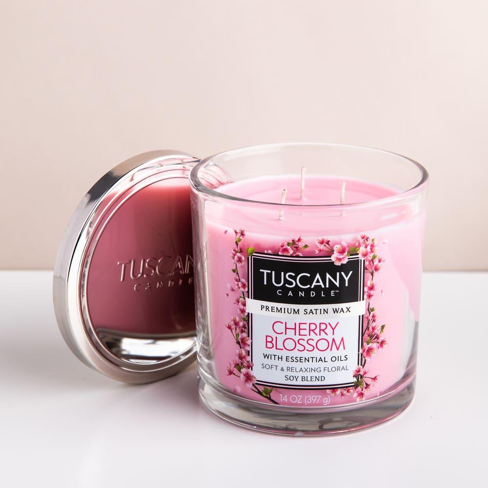 Empire Tuscany 'Cherry Blossom' 3-Wick Glass Jar Candle