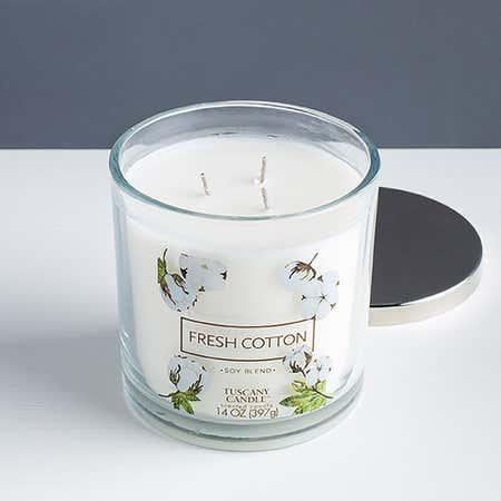 94666_Empire_Tuscany_'Fresh_Cotton'_3_Wick_Glass_Jar_Candle