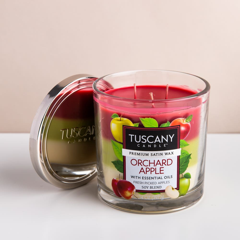 Empire Tuscany 'Orchard Apple' 3-Wick Glass Jar Candle