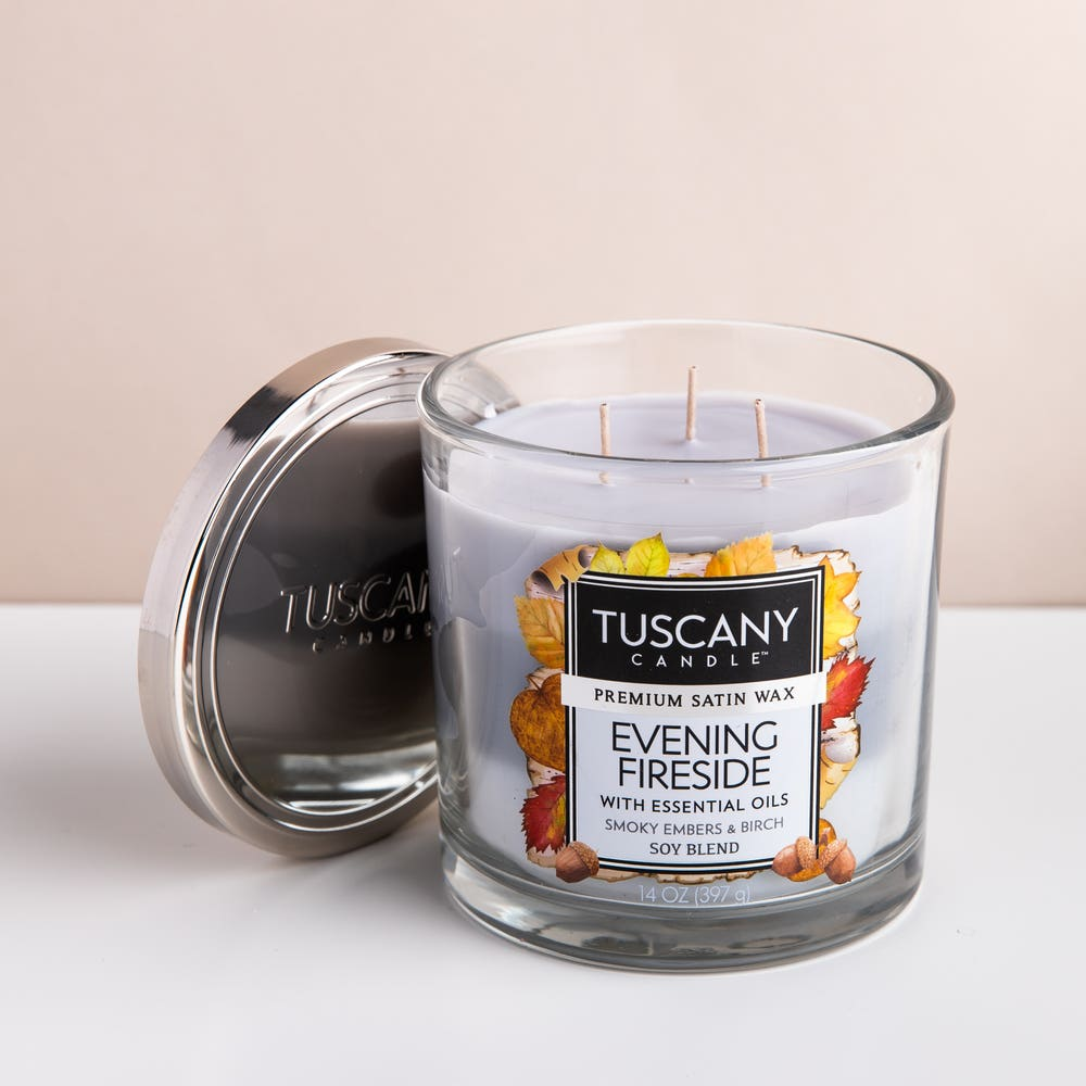 Empire Tuscany 'Evening Fireside' 3-Wick Glass Jar Candle