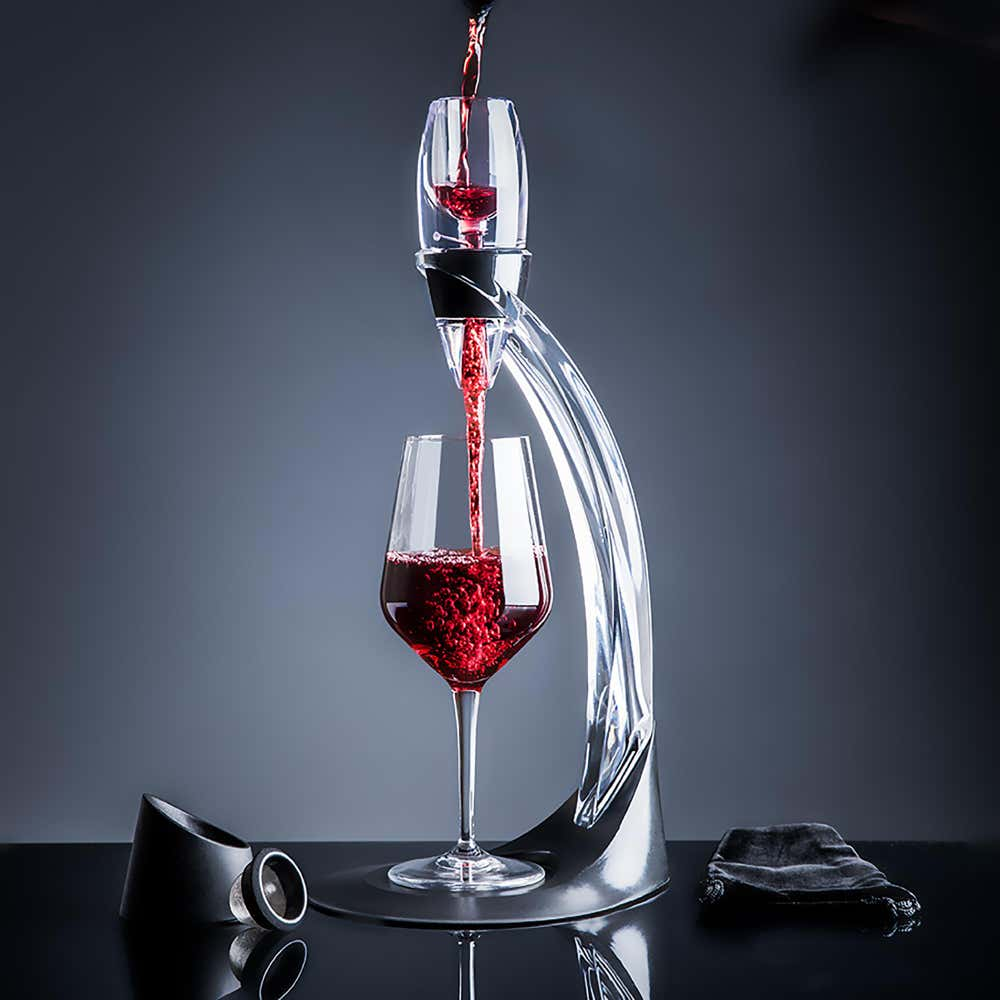 94737_KSP_Deluxe_Wine_Aerator_Decanter_with_Stand__Clear_Black