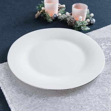 94779_KSP_Opal_'Banded'_Glass_Dinner_Plate__White_Silver