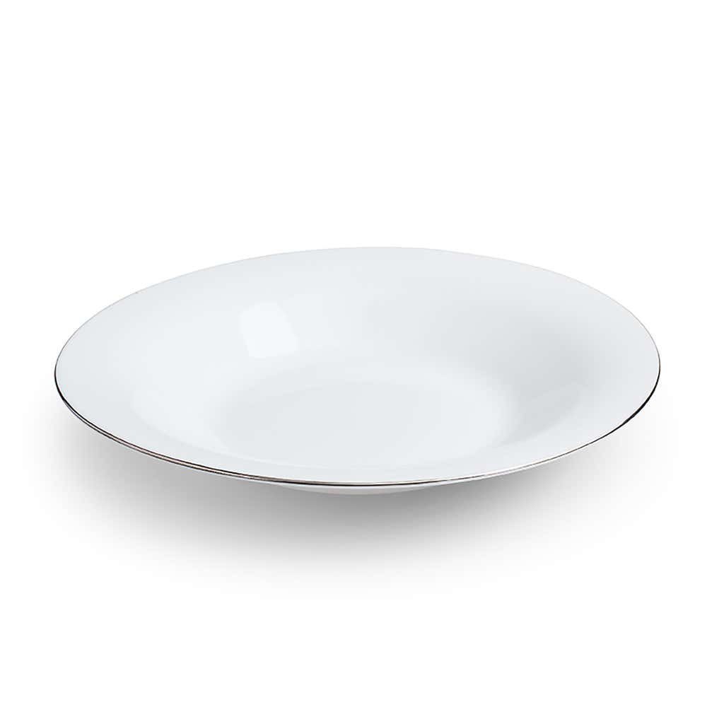 94783_KSP_Opal_'Banded'_Glass_Soup_Plate__White_Silver