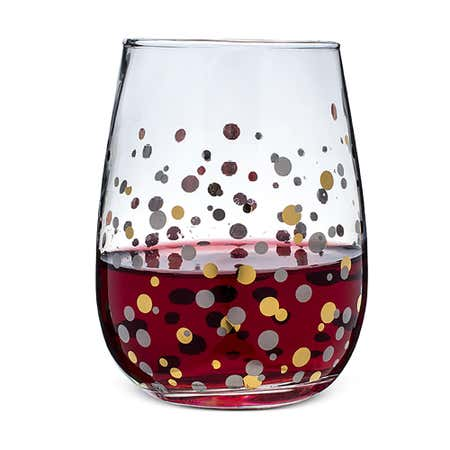 94787_KSP_Christmas_Cheers_'Confetti'_Stemless_Wine_Glass___Set_of_4__Clear