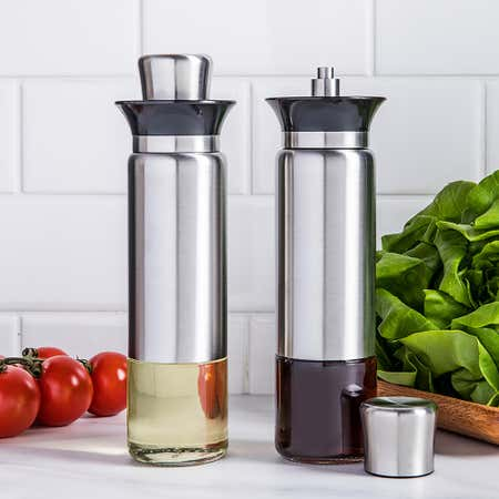 94814_KSP_Kaiko_Glass_Oil_and_Vinegar___Set_of_2__Stainless_Steel