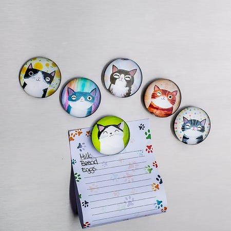 94893_Deco_Home_Adorable_'Cute_Cat'_Glass_Magnet__Asstd_