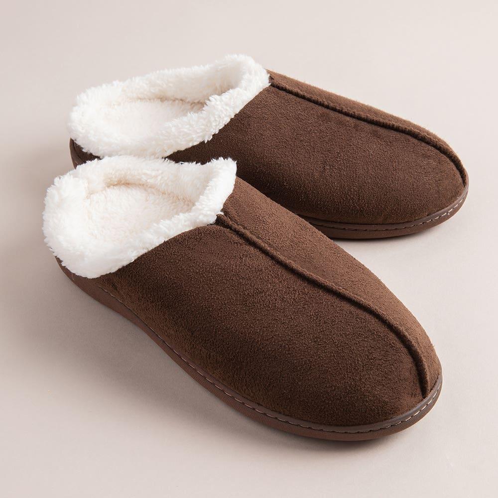 Every Sunday Ultra Soft 'Clog Style' Mem Foam Slippers Men (Brown)