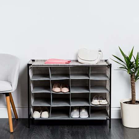 94906_KSP_Softstor_'Linen_Look'_Fabric_Shoe_Cabinet__Grey