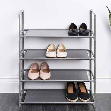 95004_KSP_Plateau_Fabric_Shoe_Rack_4_Level__Grey
