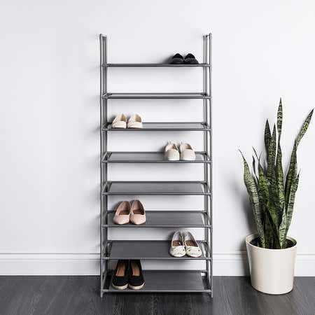 95005_KSP_Plateau_Fabric_Shoe_Rack_8_Level__Grey