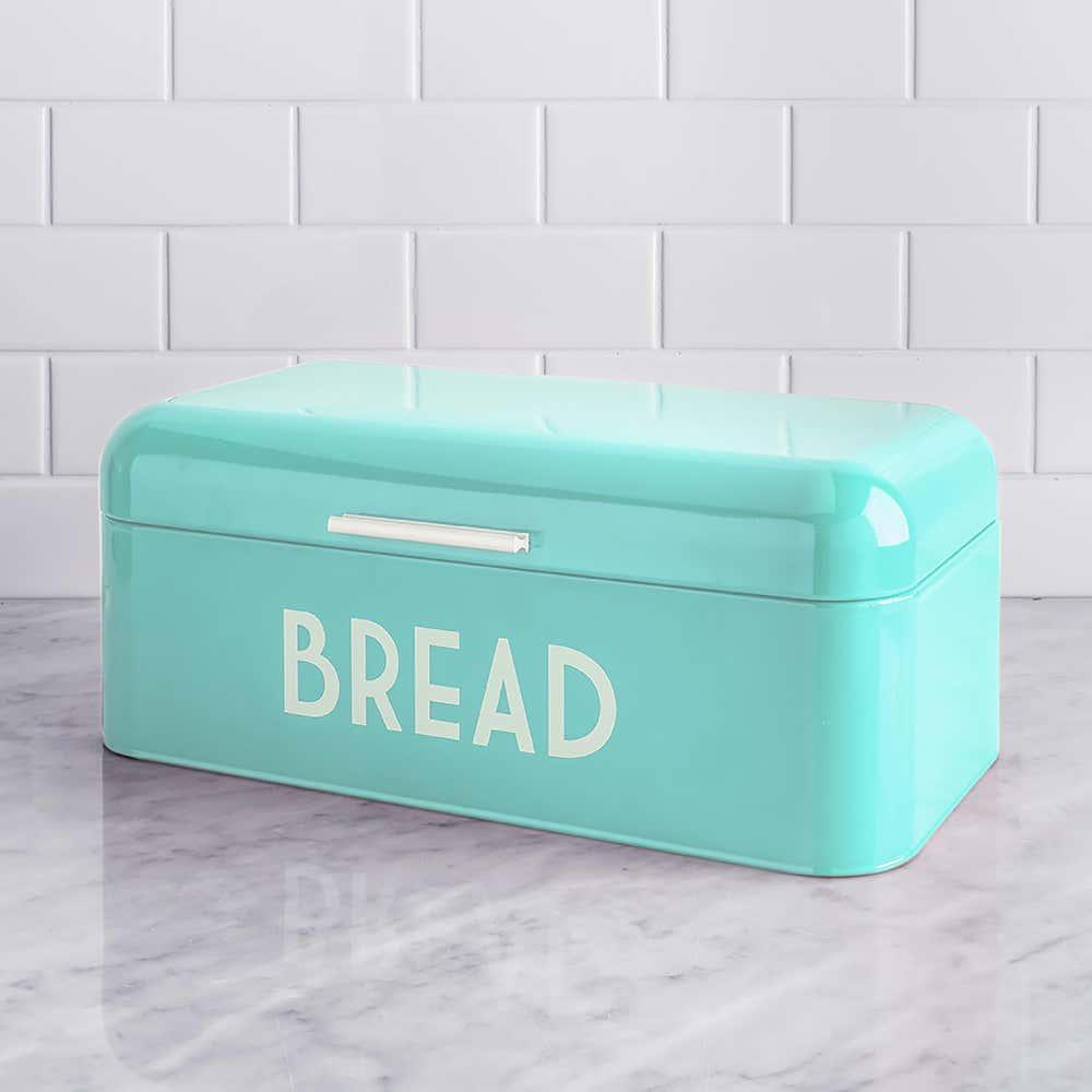 Home Basics Metal Bread Bin Teal Kitchen Stuff Plus