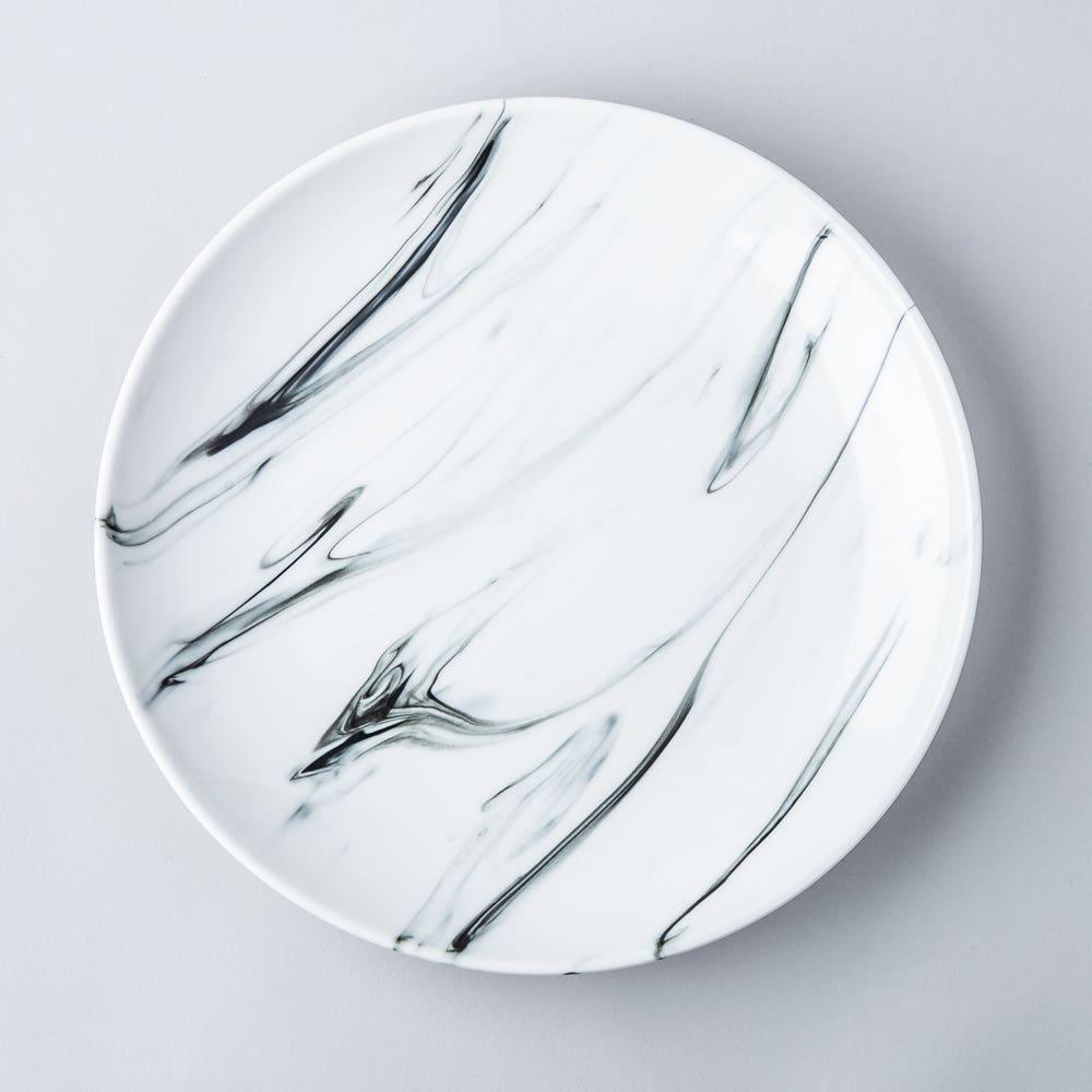 KSP Marble Porcelain Dinner Plate (White/Grey)