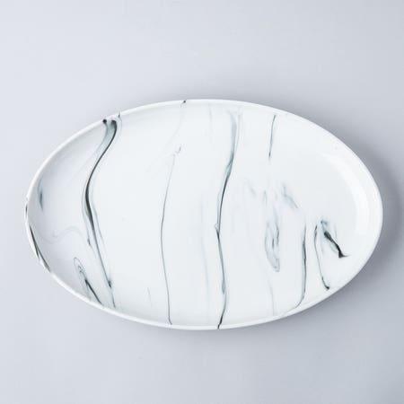 95267_KSP_Marble_Porcelain_Oval_Platter__White_Grey
