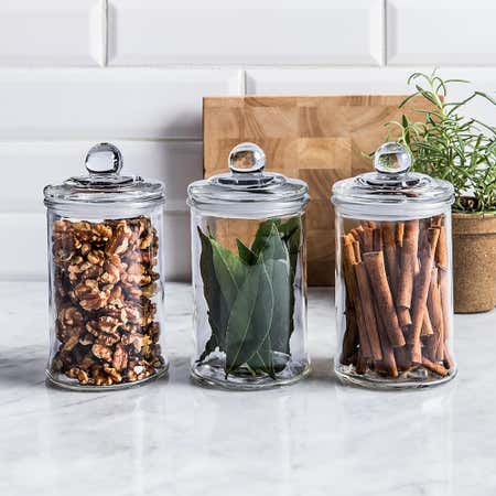 95276_KSP_Classic_Glass_Canister_with_Lid___Set_of_3__Clear