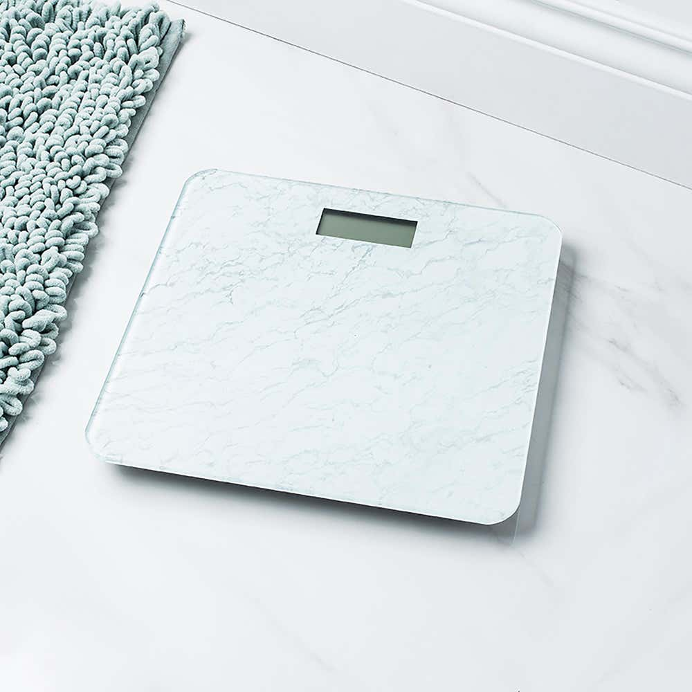 95288_KSP_Verra_Glass_'Marble'_Digital_Bathroom_Scale__White