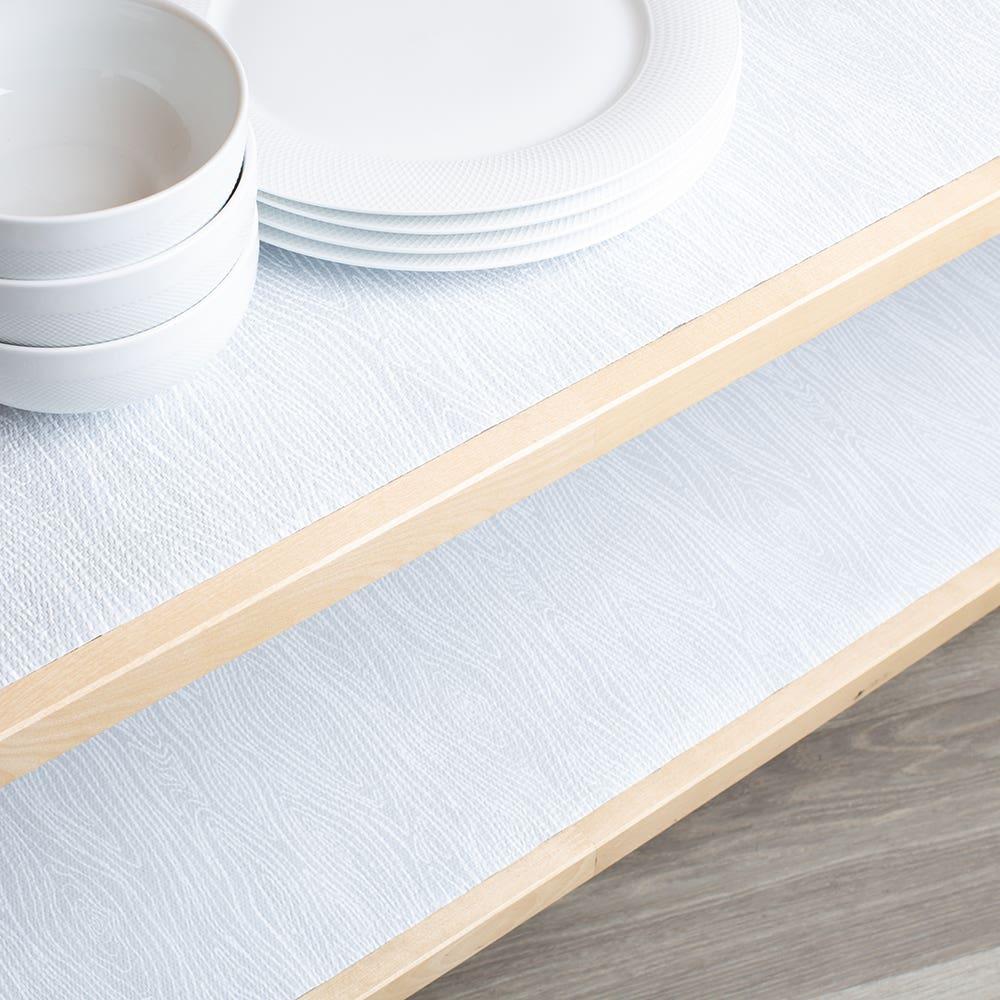 Contact Grip Prints 'Wood Grain' Shelf-Drawer Liner (Grey)