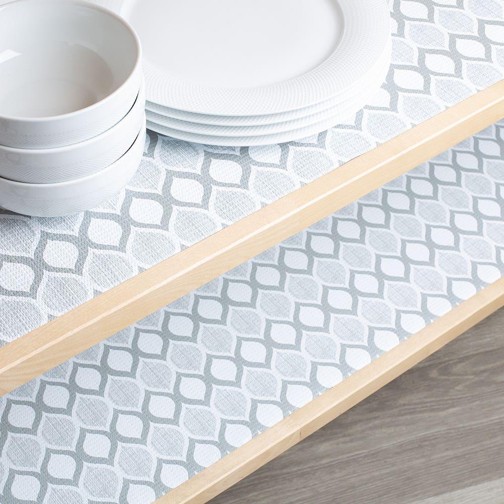 Contact Grip Prints 'Savoy' Shelf-Drawer Liner (Grey)