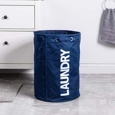 95413_KSP_Laundrette_'Round'_Laundry_Hamper__Blue
