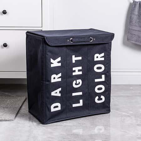 95418_KSP_Index_'Triple'_Laundry_Hamper_Sorter__Black
