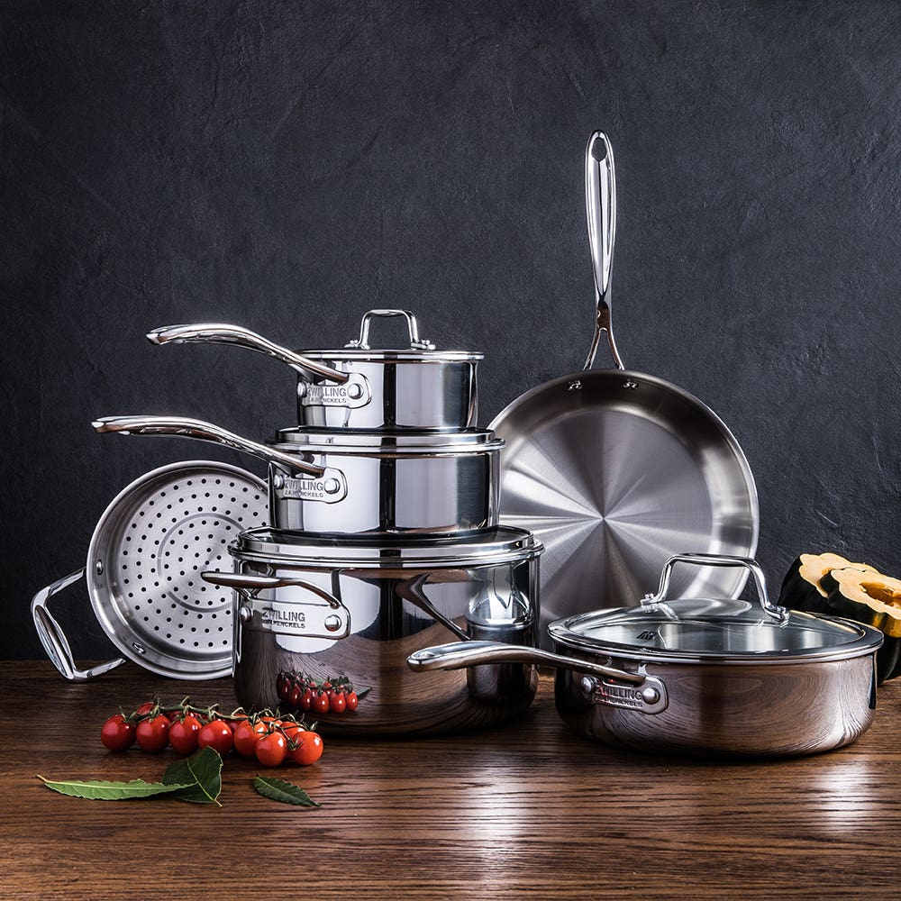 ZWILLING Vistaclad Cookware Combo with Bonus Cutlery - Set of 10