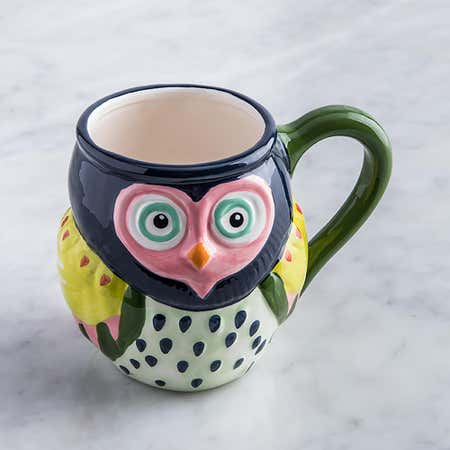 95530_Boston_Warehouse_Flea_Market_'Owl'_Ceramic_Mug__Multi_Colour