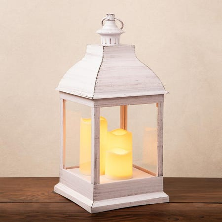 95682_KSP_Halton_'Metal_Look'_LED_Plastic_Lantern__White