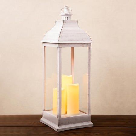 95683_KSP_Halton_'Metal_Look'_LED_Plastic_Lantern__White