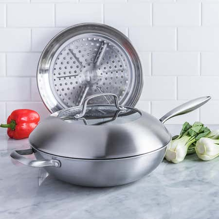 95689_KSP_Pro_Form_'Tri_Ply'_Wok_with__Lid__and__Steamer___Set_of_3__Stainless_Steel
